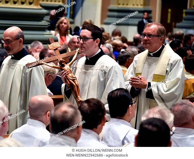 Pope Francis says Mass at the Cathedral Basilica of Saints Peter and Paul in Philadelphia Featuring: Atmosphere Where: Philadelphia, Pennsylvania
