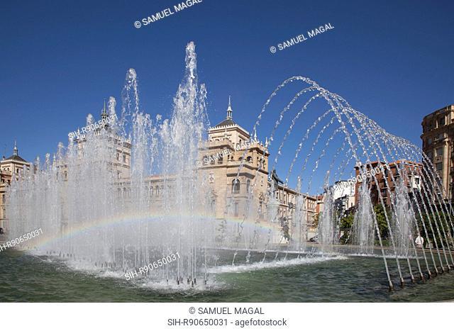 Spain, Valladolid, Fountain