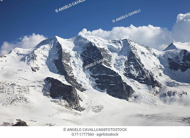 Switzerland  Canton Graubunden  Alps  Bernina Region  Piz Palu