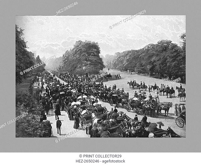 The Drive and Rotten Row, Hyde Park, c1900. Artist: York & Son