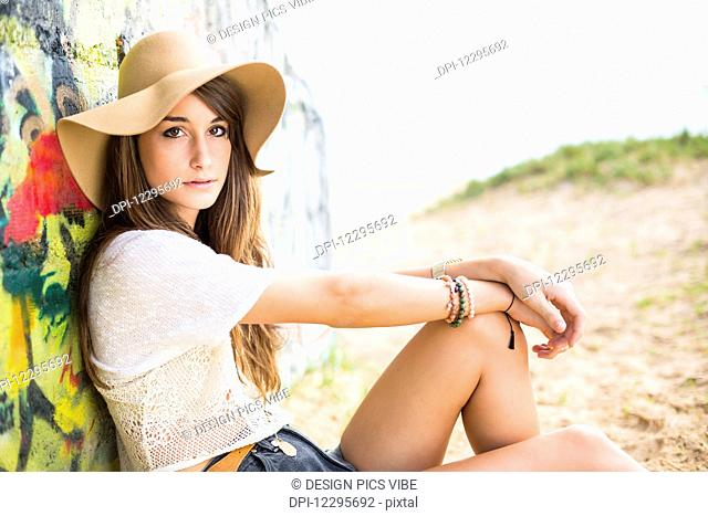 Fashion Lifestyle, Portrait Of Beautiful Young Woman