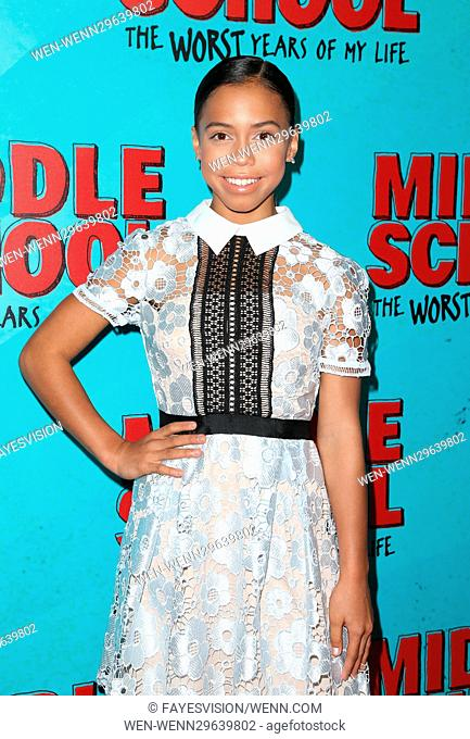 Los Angeles screening of 'Middle School: The Worst Years Of My Life' - Arrivals Featuring: Asia Monet Ray Where: Hollywood, California