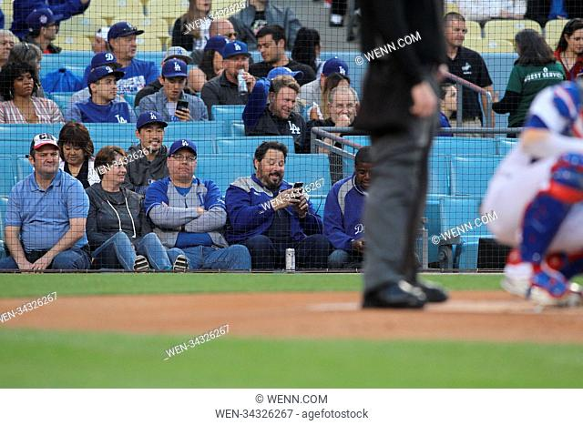 Wednesday May 30, 2018; Greg Grunberg out at the Dodgers game. Los Angeles Dodgers defeated the Philadelphia Phillies by the final score of 8-2 at Dodger...