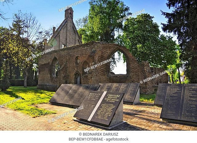 Ruins of the Chapel of Sts. Gertrude in Chojna, West Pomeranian voivodeship, Poland