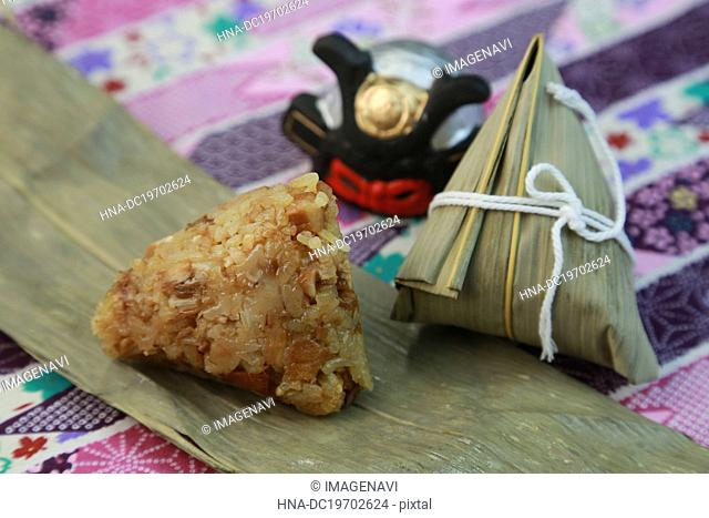 Chimaki (Rice dumplings wrapped in bamboo leaves)