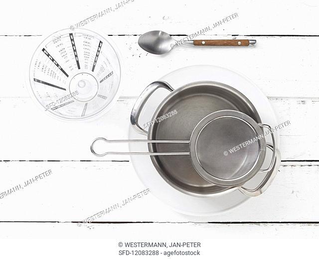 Utensils for preparing tea