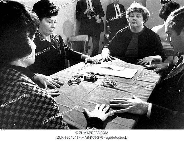 April 17, 1964 - New York, NY, U.S. - For the first time the press have been allowed to cover, in depth, a spirit seance