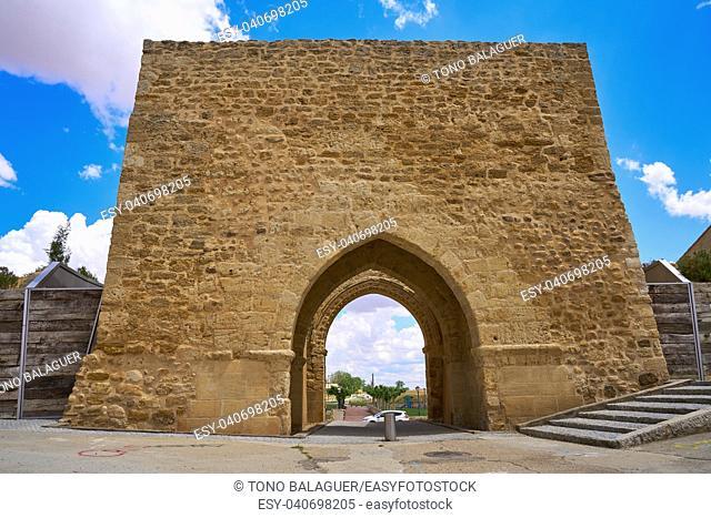 Villalpando door of Saint Andres in Zamora Province of Spain