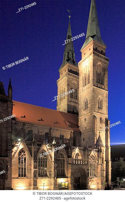 Germany, Bavaria, Nürnberg, Nuremberg, St Sebald's Church