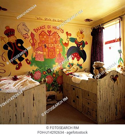 Childrens Colourfully Painted Themed Bedroom