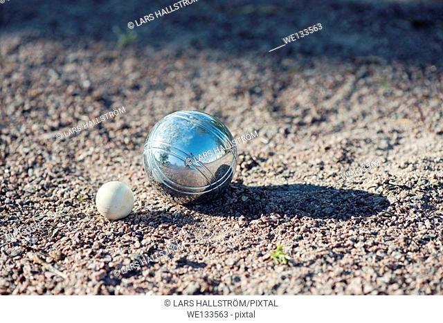 Winning ball in a game of boules