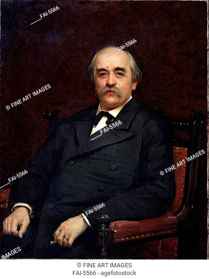 Portrait of the author Grigori Danilevsky (1829-1890). Kramskoi, Ivan Nikolayevich (1837-1887). Oil on canvas. Russian Painting of 19th cen. . 1882