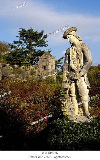 statue by Aantonio Bonazza in the grounds of Torosay castle, United Kingdom, Scotland, Isle of Mull
