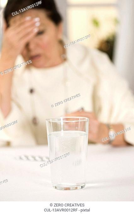 Woman with headaches
