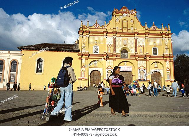Cathedral. San Cristobal de las Casas. Chiapas. Mexico