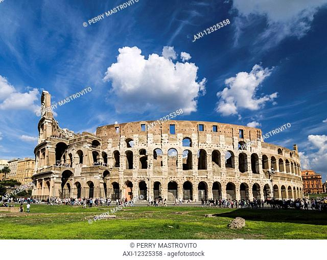 Colosseum ruins; Rome, Italy