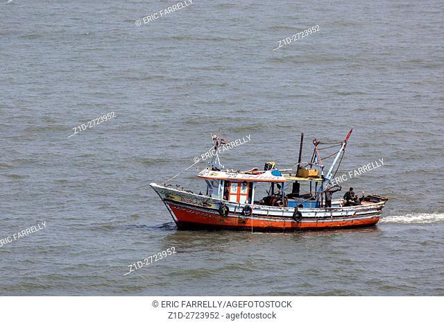 Egyptian fisherman. Port said. Egypt. Towing fishing nets