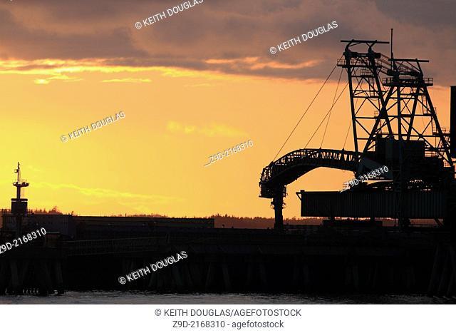 Coal loading terminal, Ridley Island, Prince Rupert, BC