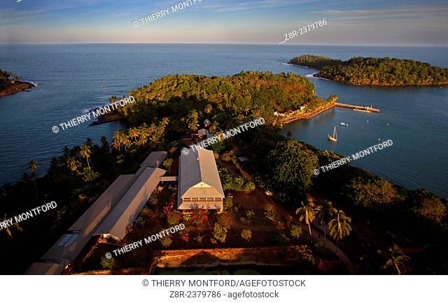 Royale island, seen from the sky. Kourou. French Guiana
