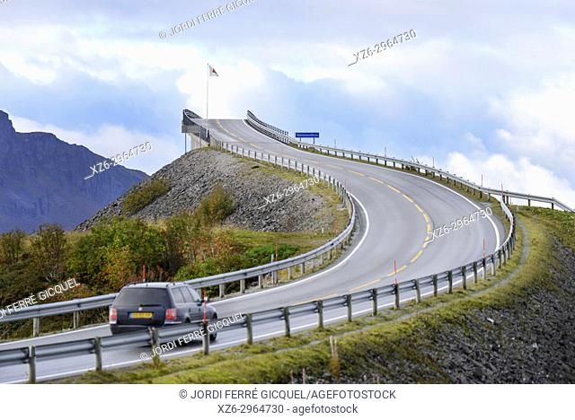 The Storseisundet Bridge - Storseisundbrua - on the Atlantic Ocean Road - Atlanterhavsveien - in Møre og Romsdal county, Norway, Europe