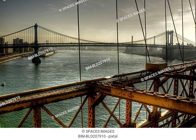 Brooklyn Bridge on an Overcast Day
