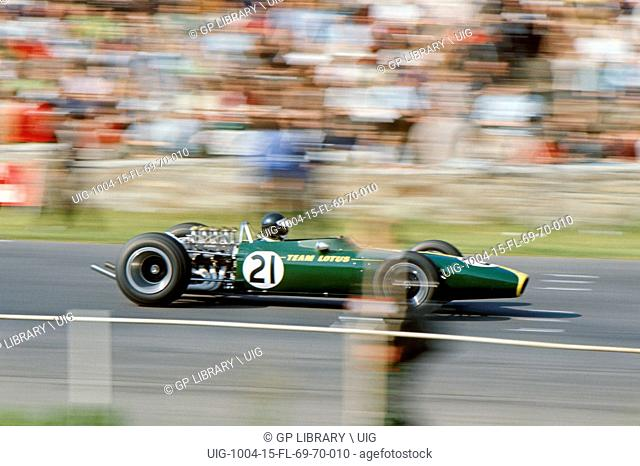 Jim Clark, Belgian GP, Spa Francorchamps, June 18th 1967. Lotus-Cosworth 49, finished 6th