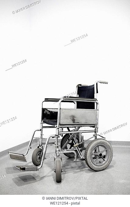 Empty wheel chair in a hospital
