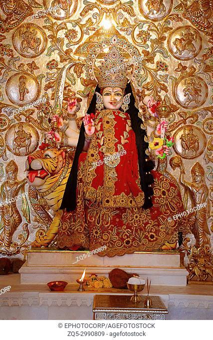 Temple deity Ashapura Mataji temple, Katraj road, Pune. Maharashtra, India
