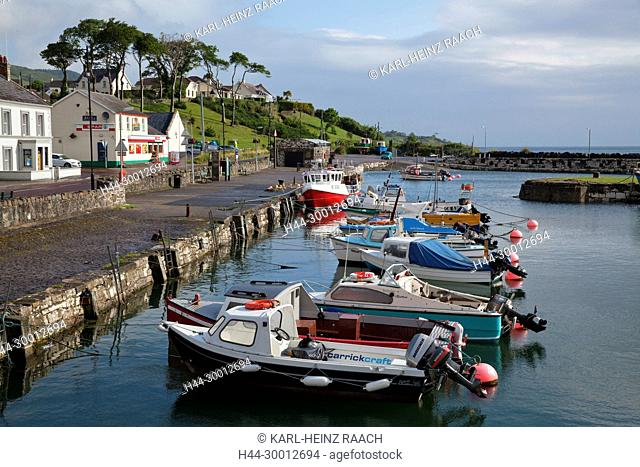 Nordirland, Glenarm, Antrimküste, County Antrim, Hafen