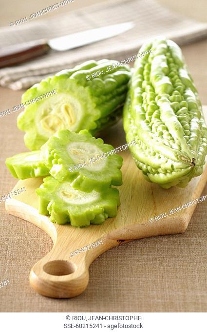 Slicing a bitter cucumber