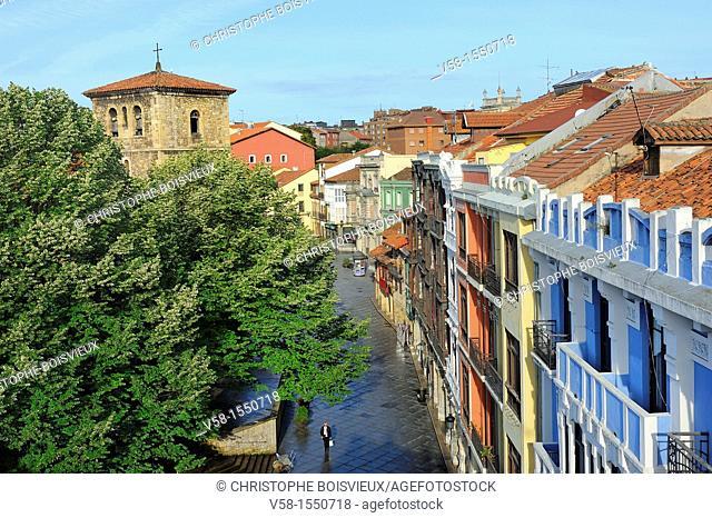 Spain, Asturias, Aviles, Calle San Francisco