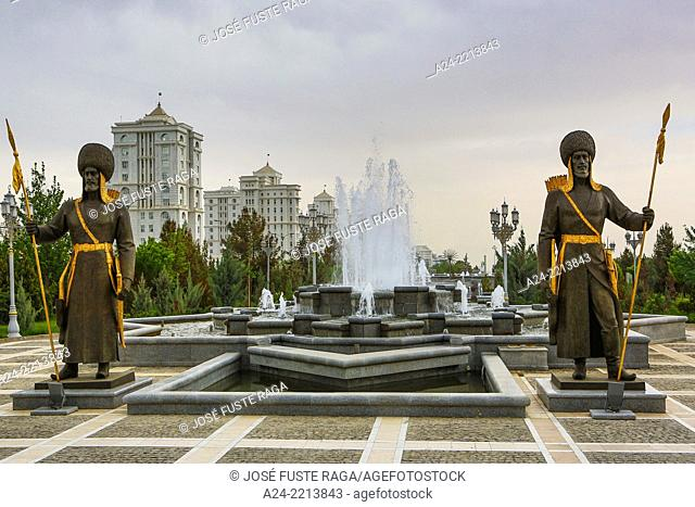 Turkmenistan , Ashgabat City, Independence Park, Warriors