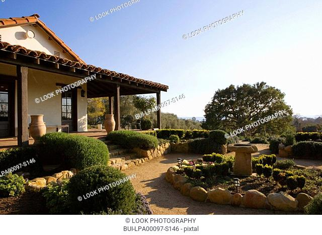 Spanish Style Exterior and Landscape