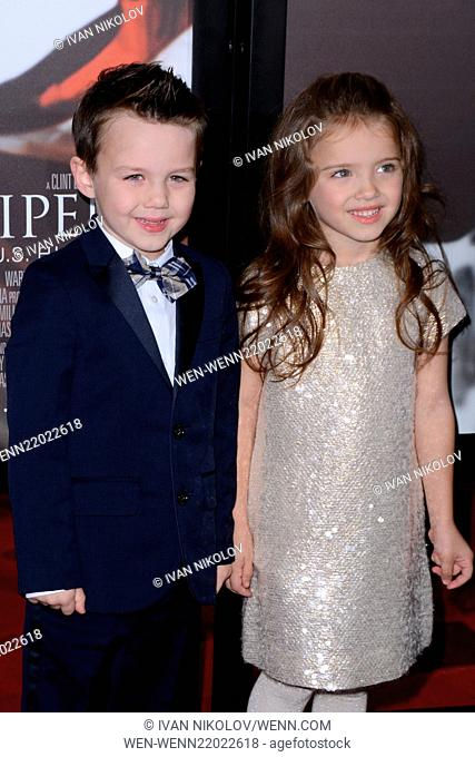 Premiere of 'American Sniper' atJazz at Lincoln Center - Frederick P. Rose Hall - Red carpet arrivals Featuring: Aidan McGraw