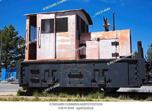Mining Rail Locomotive, Douglas, Cochise County, Arizona, USA
