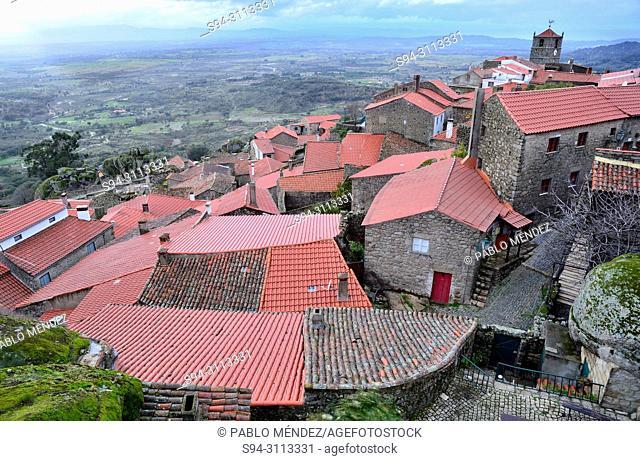 General view of Monsanto village, Monsanto, Castelo Branco, Portugal