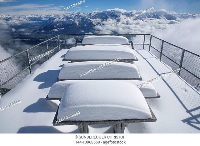 Alpstein, Staubern, mountain, mountains, hut, house, alpine cabin, snow, winter, canton, Appenzell, Innerroden, SG, canton St