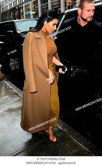 Kim Kardashian leaving a restaurant in New York City Featuring: Kim Kardashian Where: Manhattan, New York, United States When: 22 Apr 2015 Credit: TNYF/WENN