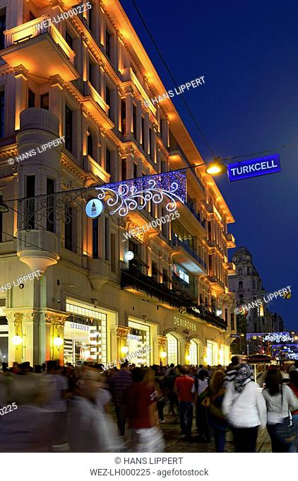Turkey, Istanbul, View of Demiroren Istiklal shopping center