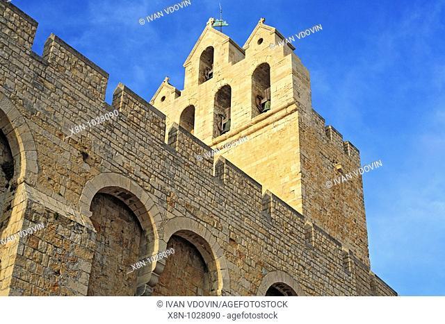 Fortified church 12 cent , Saintes-Maries-de-la-Mer, Languedoc-Roussillon, France
