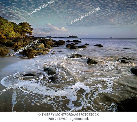 Rémire-Montjoly beach in the early morning. French Guiana