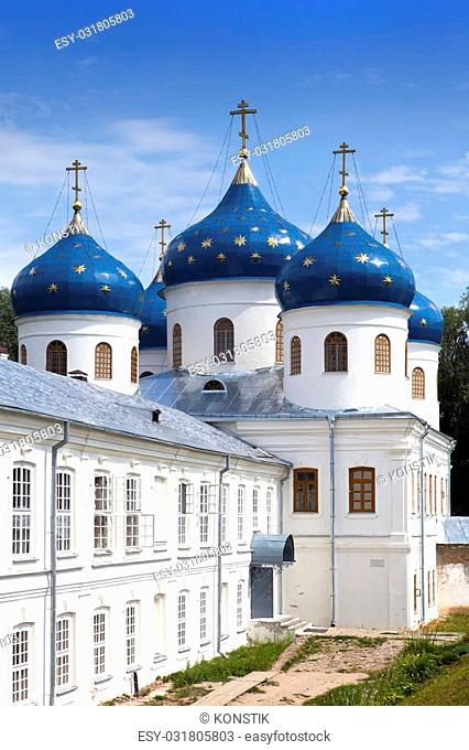 Russian orthodox Yuriev Monastery, Church of Exaltation of the Cross, Great Novgorod, Russia