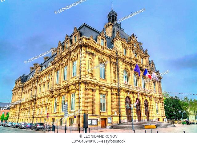 Town hall of Tourcoing, a city near Lille in the Nord Department of France