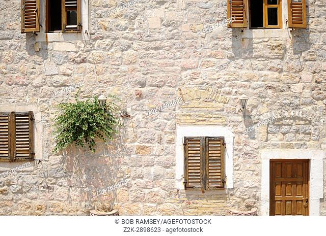 Architecture detail in the city of Budva