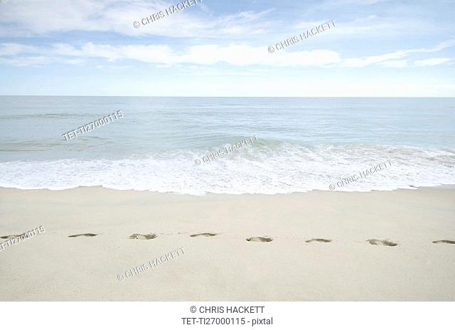 Foorprints on beach