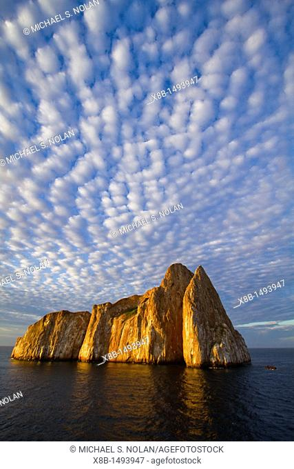Scenic view of Leon Dormido Sleeping Lion Island off San Cristobal Island in the Galapagos Island Archipelago, Ecuador MORE INFO This small island is a popular...