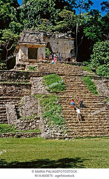 Templo XII (Templo de la Calavera). Palenque. Chiapas. Mexico