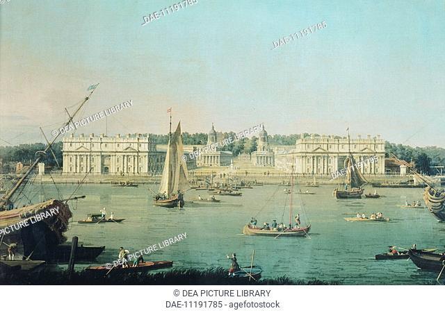 Greenwich Hospital in London, England 18th century.  London-Greenwich, National Maritime Museum