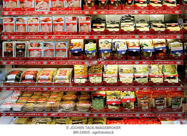 DEU, Germany, Duesseldorf. : Supermarket cooler, refrigerator, at the Euroshop, tradeshow for shopfitting, store equipment, visual merchandising, Promotion
