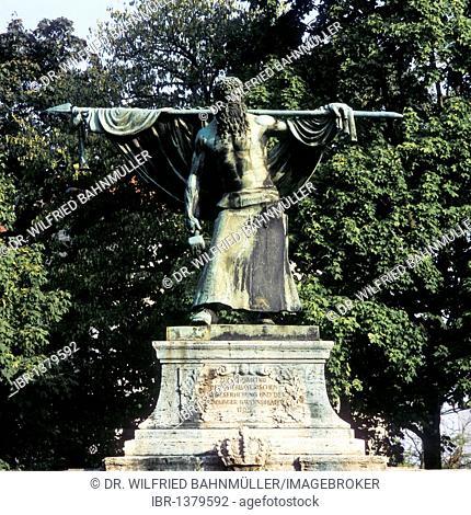 Memorial, Schmied von Kochel, blacksmith of Kochel, Sendling, Munich, Upper Bavaria, Germany, Europe